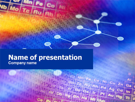 Technology and Science: Chemical Compound PowerPoint Template #01029
