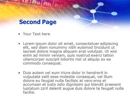 Chemical Compound PowerPoint Template, Slide 2, 01029, Technology and Science — PoweredTemplate.com