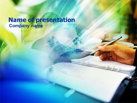 Business Journal PowerPoint Template, 01030, Financial/Accounting — PoweredTemplate.com