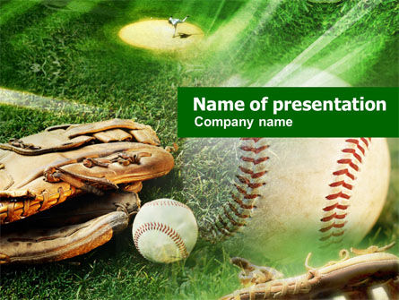 Baseball Affiliation PowerPoint Template, 01031, Sports — PoweredTemplate.com