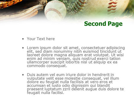 Baseball Affiliation PowerPoint Template, Slide 2, 01031, Sports — PoweredTemplate.com