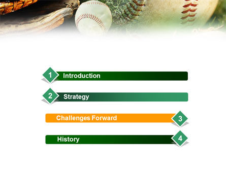 Baseball Affiliation PowerPoint Template, Slide 3, 01031, Sports — PoweredTemplate.com