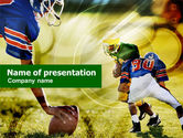 Sports: American Football Positions PowerPoint Template #01032