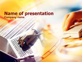 Technology and Science: Working Online PowerPoint Template #01033