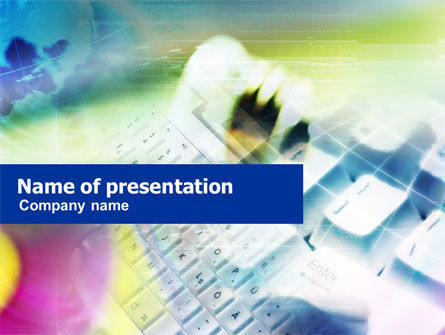 White Keyboard PowerPoint Template, 01035, Technology and Science — PoweredTemplate.com