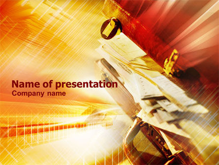 Business: Full Briefcase PowerPoint Template #01038
