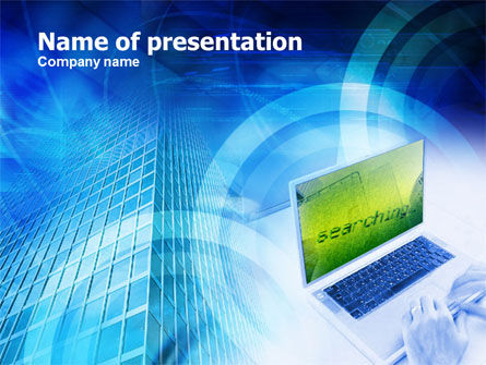 Internet Search PowerPoint Template, 01040, Business Concepts — PoweredTemplate.com
