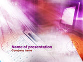 Technology and Science: Work Online PowerPoint Template #01042