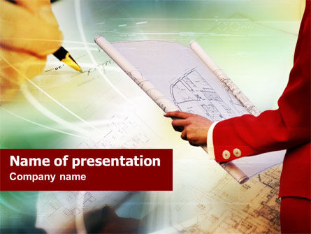Construction Planning PowerPoint Template, 01044, Construction — PoweredTemplate.com