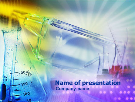 Chemical Flasks Powerpoint Template Backgrounds