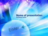 Telecommunication: Enter Sign PowerPoint Template #01048