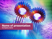 Utilities/Industrial: IT Technology Gears PowerPoint Template #01050