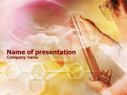Technology and Science: Measuring Cylinder PowerPoint Template #01051