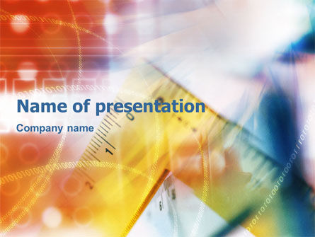 Abstract/Textures: Ruler Theme PowerPoint Template #01052