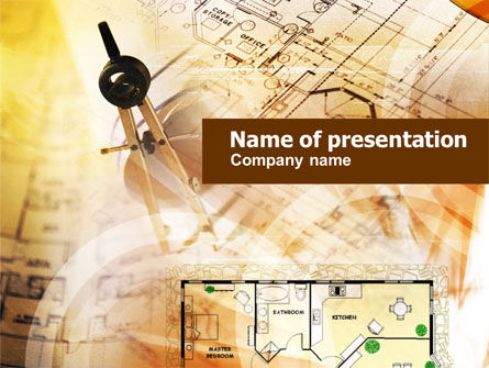 Construction: Pair of Compasses PowerPoint Template #01053
