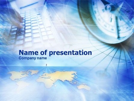 Business Concepts: Web Technology Tendencies PowerPoint Template #01057