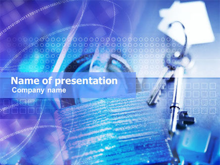 Business Concepts: Lock And Key PowerPoint Template #01058
