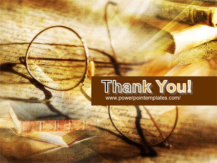 Old Glasses and Books PowerPoint Template Slide 20