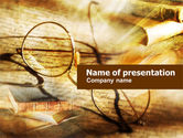 Education & Training: Old Glasses and Books PowerPoint Template #01059