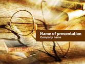 Education & Training: Modelo do PowerPoint - antigos vidros e livros #01059