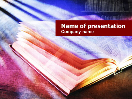 Colored Open Book PowerPoint Template, 01061, Education & Training — PoweredTemplate.com