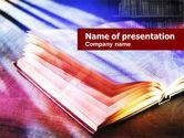 Education & Training: Plantilla de PowerPoint - libro abierto de color #01061