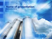 Careers/Industry: Grain Elevators PowerPoint Template #01065