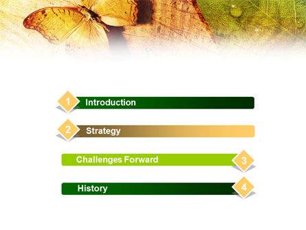 Butterflies On A Wood PowerPoint Template, Slide 3, 01067, Nature & Environment — PoweredTemplate.com