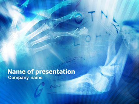Hand Fracture PowerPoint Template, 01068, Medical — PoweredTemplate.com
