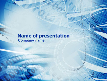 Telecommunication: Computer Coding PowerPoint Template #01070