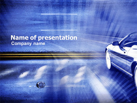 Cars and Transportation: On The Road Again PowerPoint Template #01071