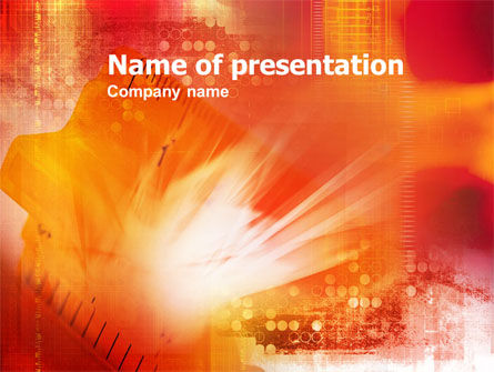 Abstract/Textures: Abstract Scale PowerPoint Template #01072