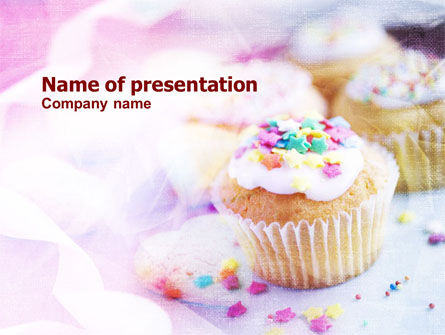 Holiday Fruitcakes PowerPoint Template, 01073, Food & Beverage — PoweredTemplate.com