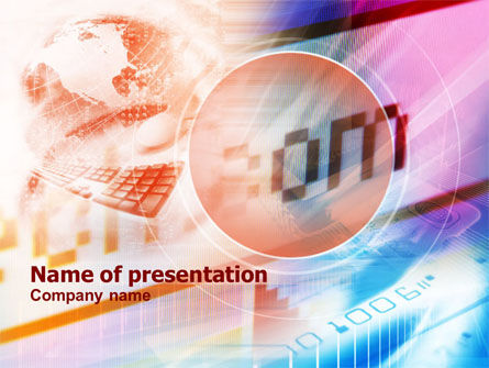 Telecommunication: Domain Names PowerPoint Template #01075