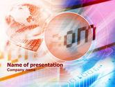 Telecommunication: Modèle PowerPoint de noms de domaine #01075