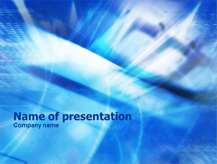 Blue IT Theme PowerPoint Template, 01076, Abstract/Textures — PoweredTemplate.com