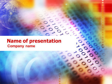 Abstract/Textures: Information Technology Theme PowerPoint Template #01078