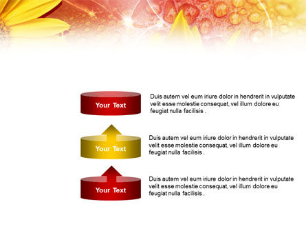 Yellow Petals On A Light Crimson Background PowerPoint Template Slide 10