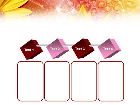 Yellow Petals On A Light Crimson Background PowerPoint Template Slide 18