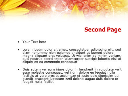 Yellow Petals On A Light Crimson Background PowerPoint Template Slide 2