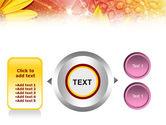 Yellow Petals On A Light Crimson Background PowerPoint Template#12