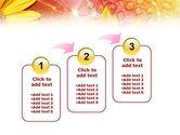 Yellow Petals On A Light Crimson Background PowerPoint Template#14