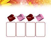 Yellow Petals On A Light Crimson Background PowerPoint Template#18