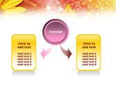 Yellow Petals On A Light Crimson Background PowerPoint Template#4