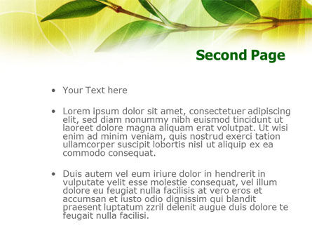 Green Stick PowerPoint Template Slide 2