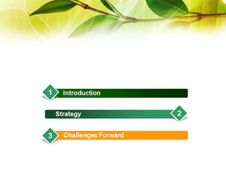 Green Stick PowerPoint Template Slide 3