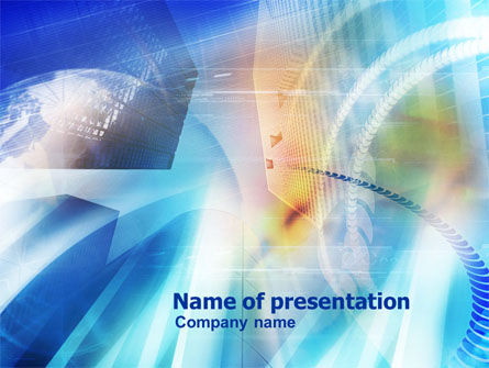 Abstract Business Center Theme PowerPoint Template