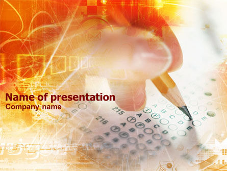 Test Forms PowerPoint Template, 01087, Business Concepts — PoweredTemplate.com