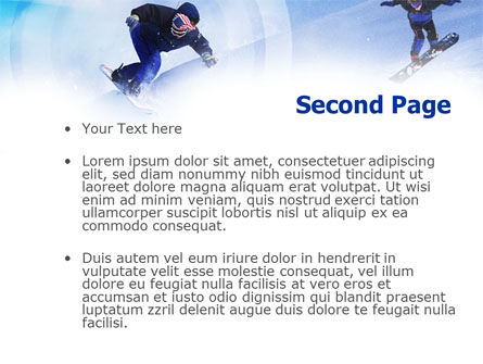Snowboard Jumps PowerPoint Template, Slide 2, 01089, Sports — PoweredTemplate.com