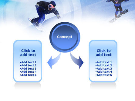 Snowboard Jumps PowerPoint Template, Slide 4, 01089, Sports — PoweredTemplate.com